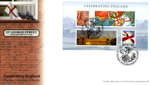 England 2007 23rd April Celebrating England  royal mail cover