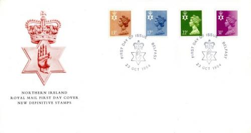 Northern Ireland 1984 23rd October 13p,17p,22p,31p Belfast CDS royal mail cover