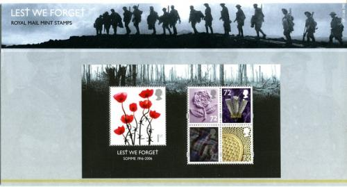 2006 Lest We Forget MS pack
