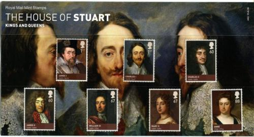 2010 Stuarts includes miniature sheet pack