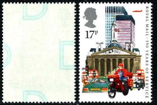 SG1290  1985 Post Office Anniversary 17p Underprint 'D'