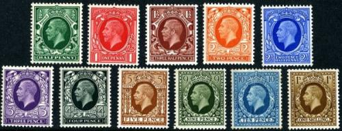 SG439-449 George V set of 11