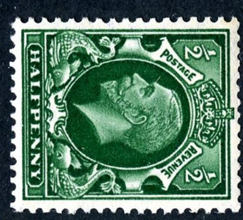 SG439a ½d green wmk sideways