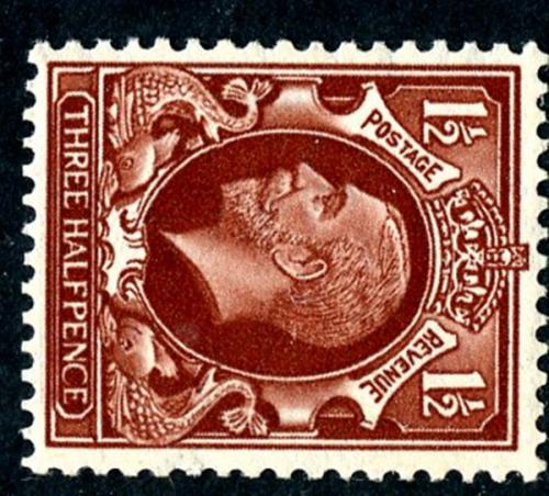 SG441d 1½d brown wmk sideways