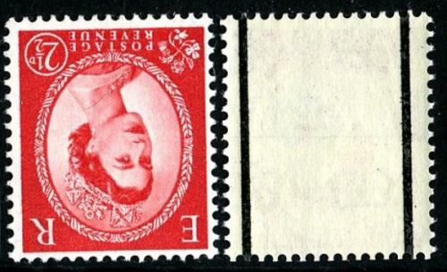 SG 591wi 2½d carmine type2 watermark inverted