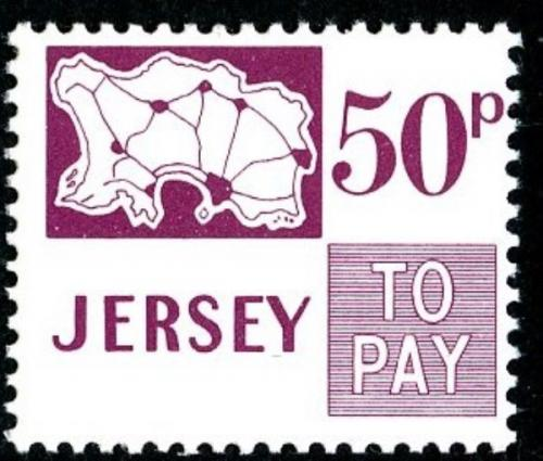 SG: D20  1971 50p dull purple