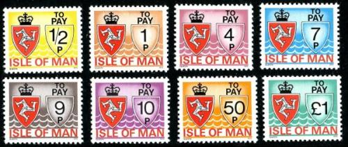 SG: D9 - D16 Set of 8 from ½p - £1
