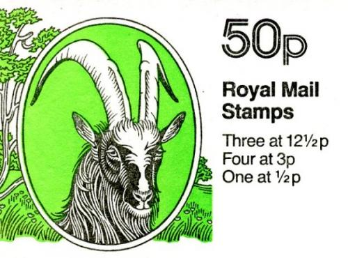SG: FB23b 50p Bagot Goat with 12½p left band
