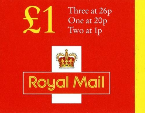 SG: FH41 £1 New Style 2x1p, 20p, 26px3  (rate 47p)