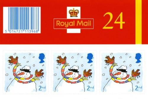 SG: LX22 Christmas 2001  24x2nd self adhesive
