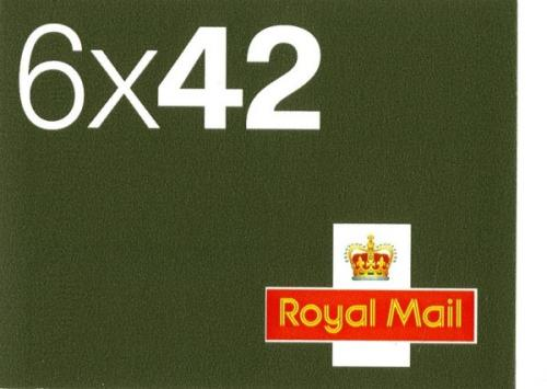 SG: NA1  6x42p 6 airmail stickers