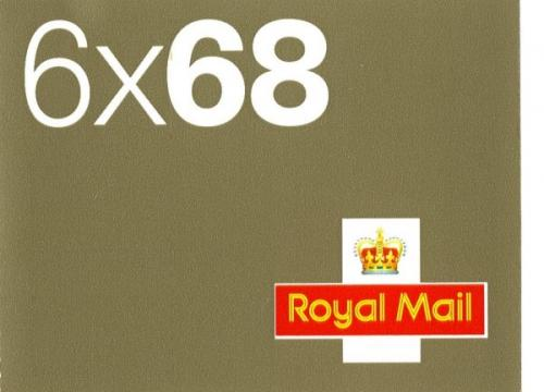 SG: NB1  6x68p & 6 airmail stickers