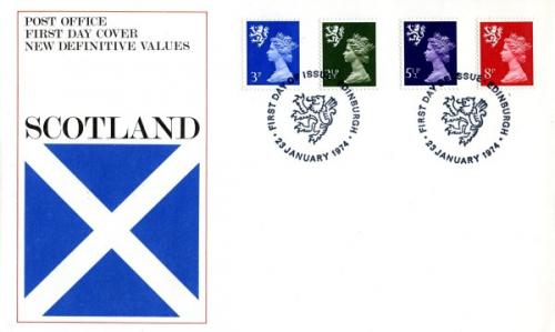 Scotland 1974 23rd January 3p,3½p,5½p,8p Edinburgh CDS post office cover