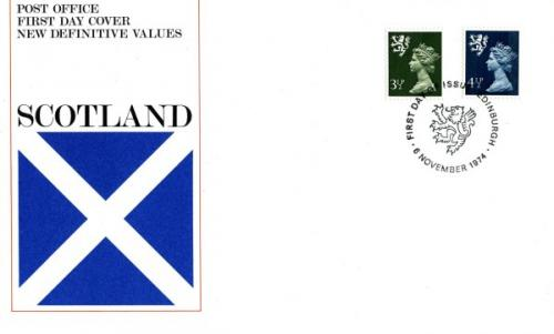 Scotland 1974 6th November 3½p,4½p Edinburgh CDS post office cover
