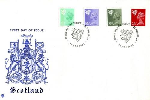 Scotland 1982 24th February 12½p,15½p,19½p,26p Edinburgh CDS