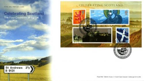Scotland 2006 30th November Celebrating Scotland Edinburgh CDS royal mail cover