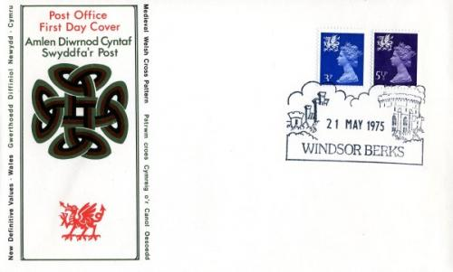 Wales 1975 21st May 3½p,54½p Windsor CDS post office cover