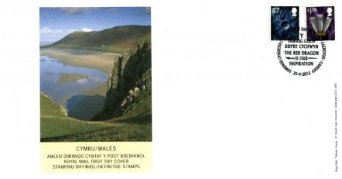 Wales 2012 25th April 87p, £1.28p royal mail cover