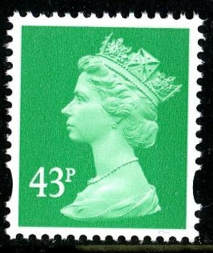 SG Y1718 43p emerald 2 band VFU