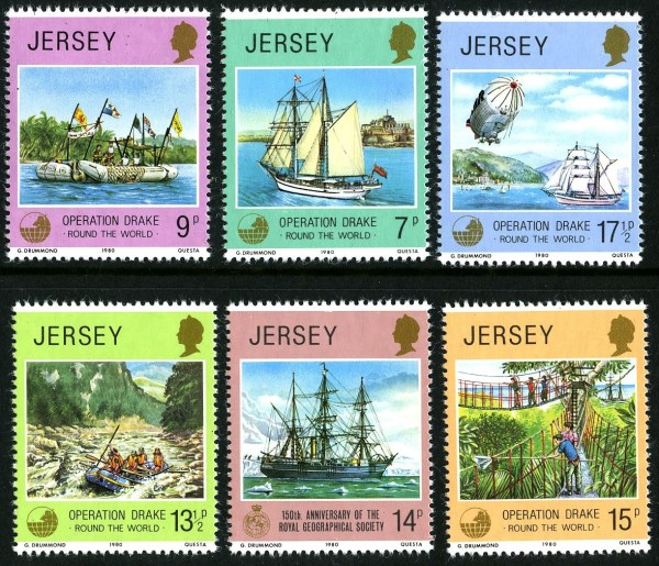 Jersey Stamps 1958