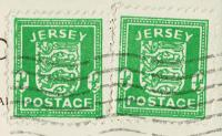 Jersey Stamps On Piece 1941 - 1944