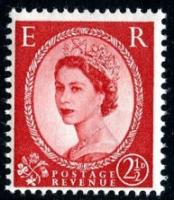 SG: 544 2½d type 1 red
