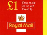 SG: FH42 £1 New Booklet Style 1p,20p,26p photo