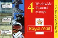 SG: GL3a Machin £1.48p Elliptical Postcards (w) with validity notice inside