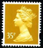 SG Y1698 35p yellow 2 band