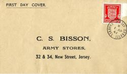 1941 1st April 1d scarlet typed address Army Stores ACTUAL ITEM