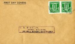 1941 7th April ½d light green address Bison Army Stores ACTUAL ITEM