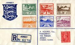1945 7th July ½d - 3d set on illustrated cover ACTUAL ITEM