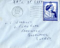 1948 dated 26th April wavy lines cancellation Godalming £1 single. ACTUAL ITEM