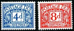 SG: D75-D76 1968 set of 2 photo postage dues