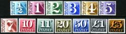 SG: D77-D89 1970 set of 13 postage dues