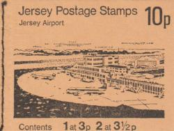 1974 10p Jersey Airport margin at bottom (SB18)