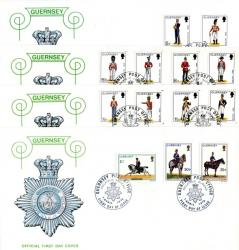 1974 Guernsey Militia Definitives 4 covers