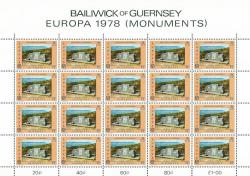 1978 5p Europa Monuments Stamp Sheet