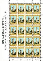 1978 7p Europa Monuments Stamp Sheet