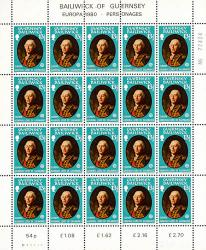 1980 13½p Europa Personalities Stamp Sheet