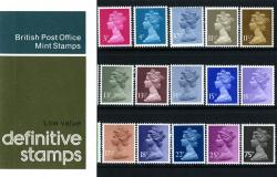 1981 October Low Values to 75p Pack