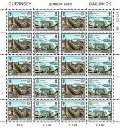 1983 13p Europa Great Works Stamp Sheet