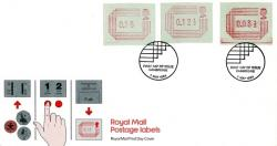 1984 1st May Postage labels royal mail cover
