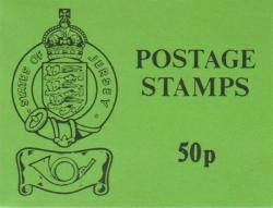 1985 50p Stamp Sachet Black on Green Cover