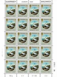 1986 10p Europa Environmental Protection Stamp Sheet