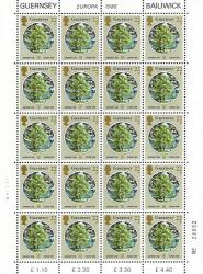 1986 22p Europa Environmental Protection Stamp Sheet