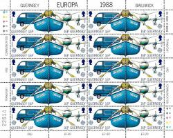 1988 16p Europa Transport Stamp Sheet