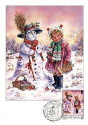 1993 Christmas Card with First Day of Issue cancellation