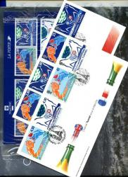 1994 Channel Tunnel Gift Pack with book,french & english stamps plus both First Day Covers