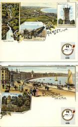 1994 Douglas Postcards with SG315 stamp on reverse